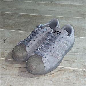Adidas Superstar 80s Suede Gray Berlin Shoes